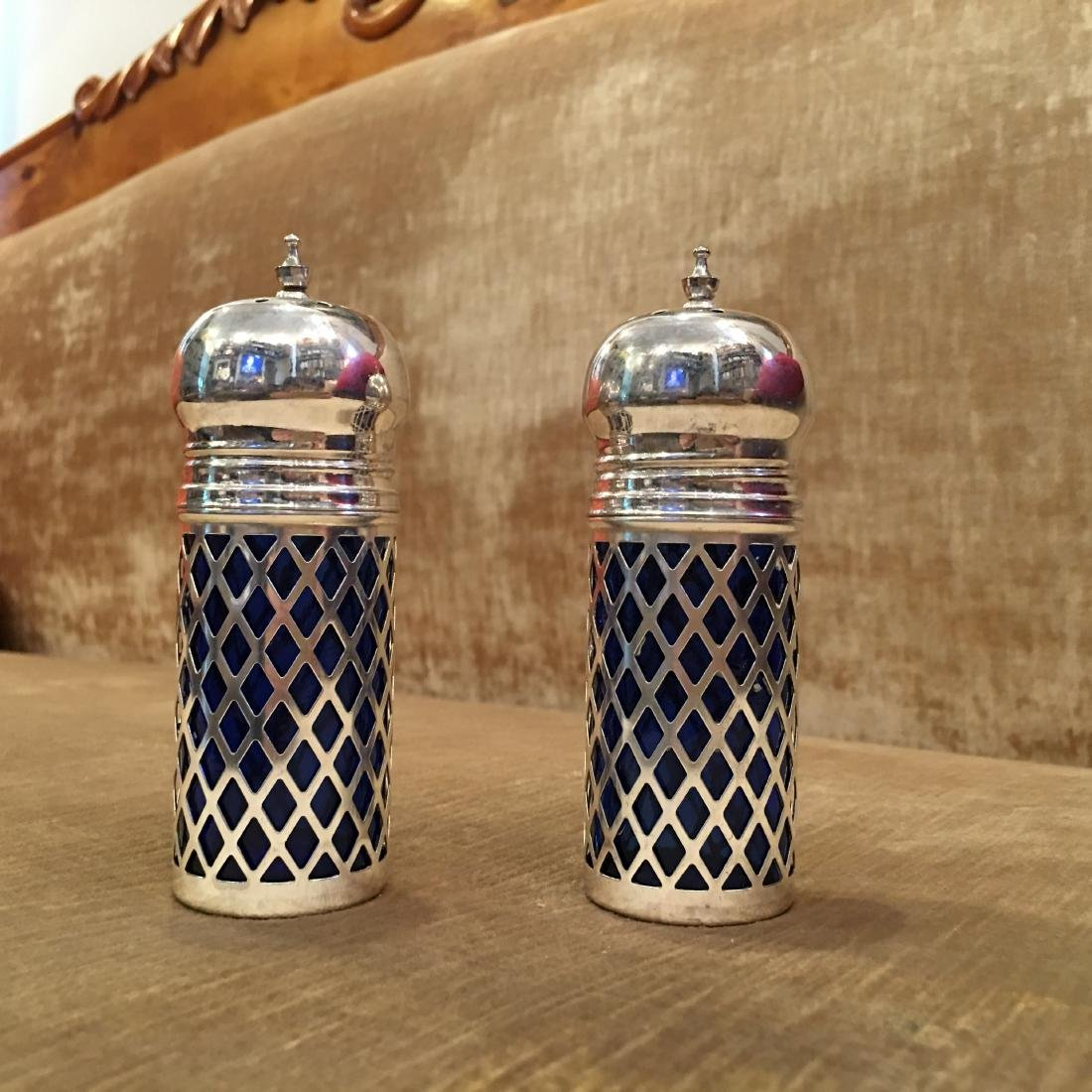 Godinger Cobalt Silver Salt & Pepper Shakers