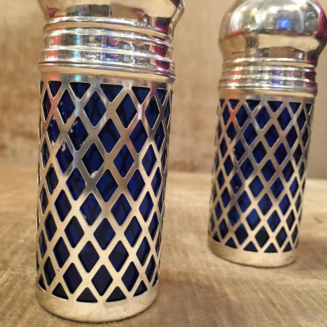 Godinger Cobalt Silver Salt & Pepper Shakers - 3