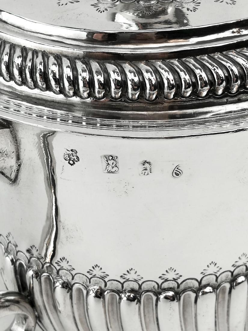 Antique John Smith Silver Porringer / Cup & Cover 1699 - 5