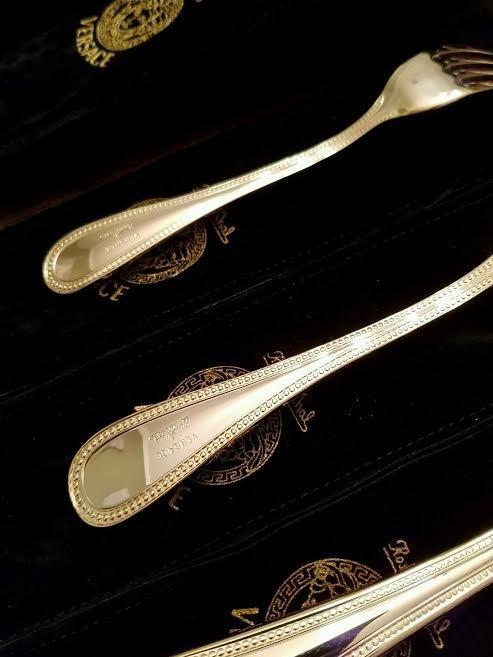 Set of 36 Rosenthal Meets Versace Medusa Gold Flatware - 5