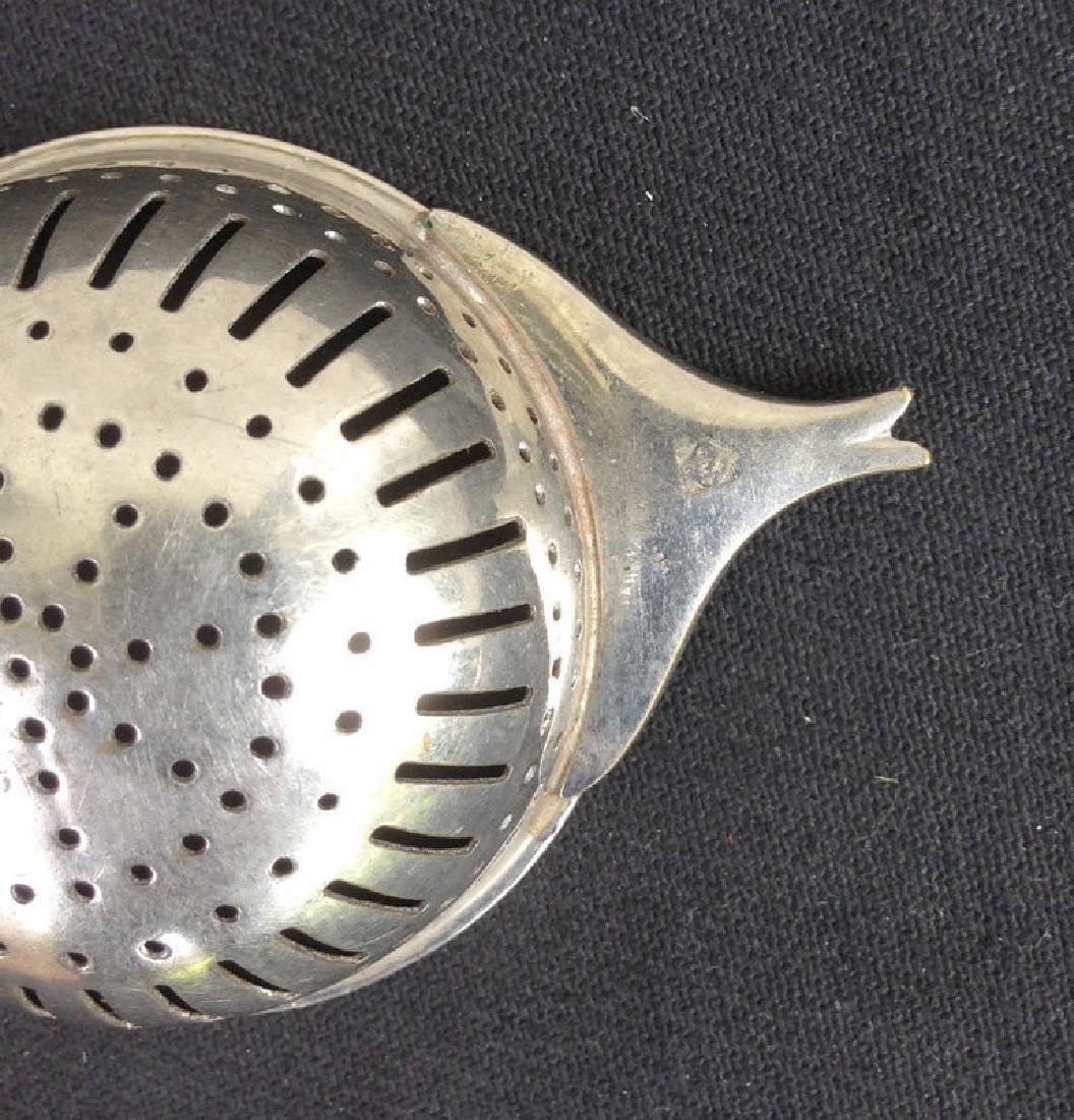 WMF Art Nouveau Silver Plated Gilt Tea Strainer, 1910 - 4