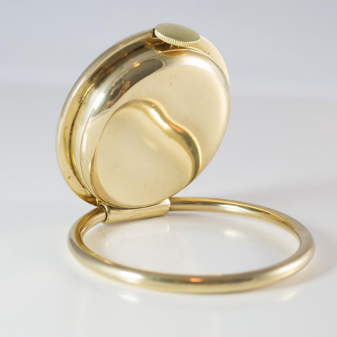 Cartier Swiss 8 Day 10K Gold Filled Travel Desk Clock - 4