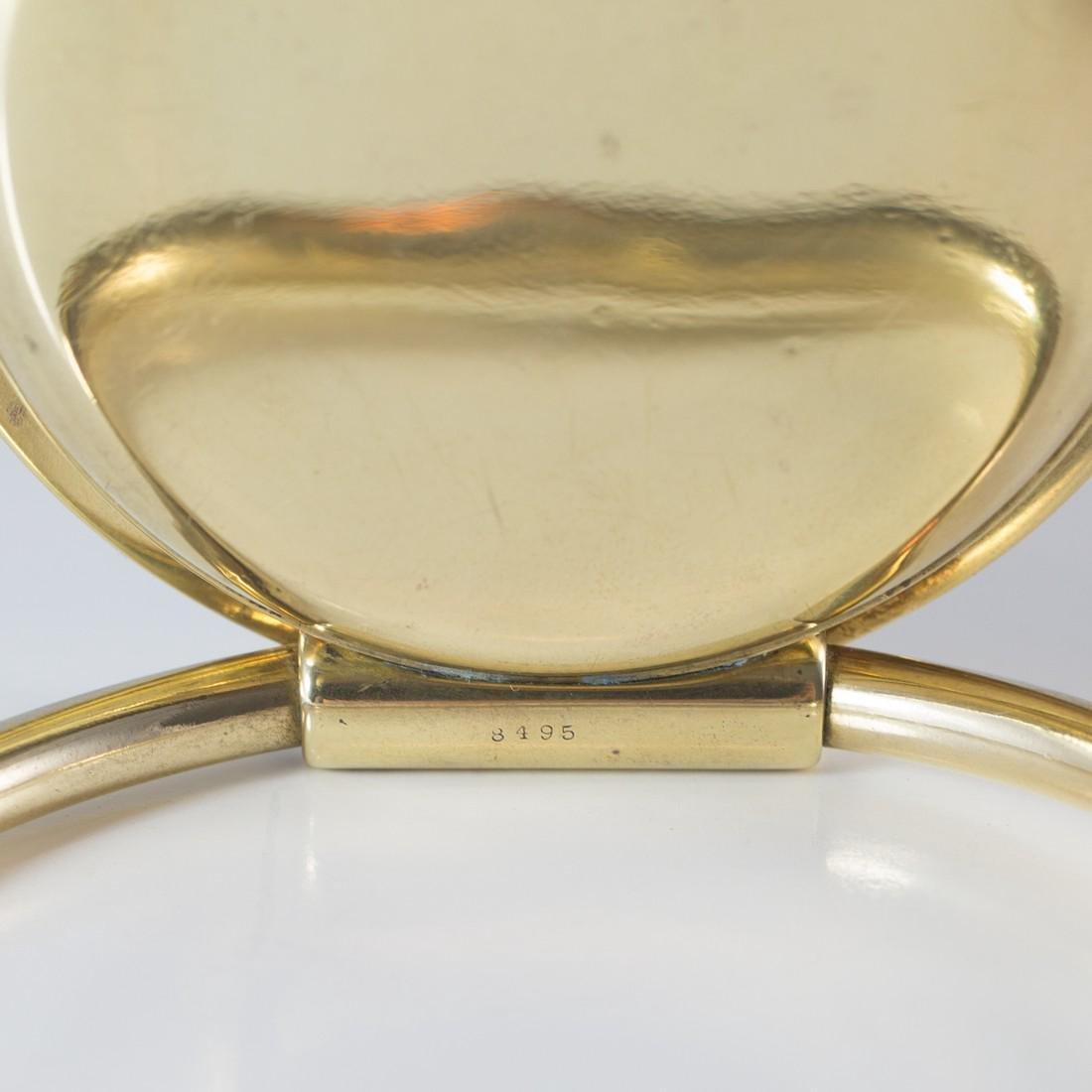 Cartier Swiss 8 Day 10K Gold Filled Travel Desk Clock - 5