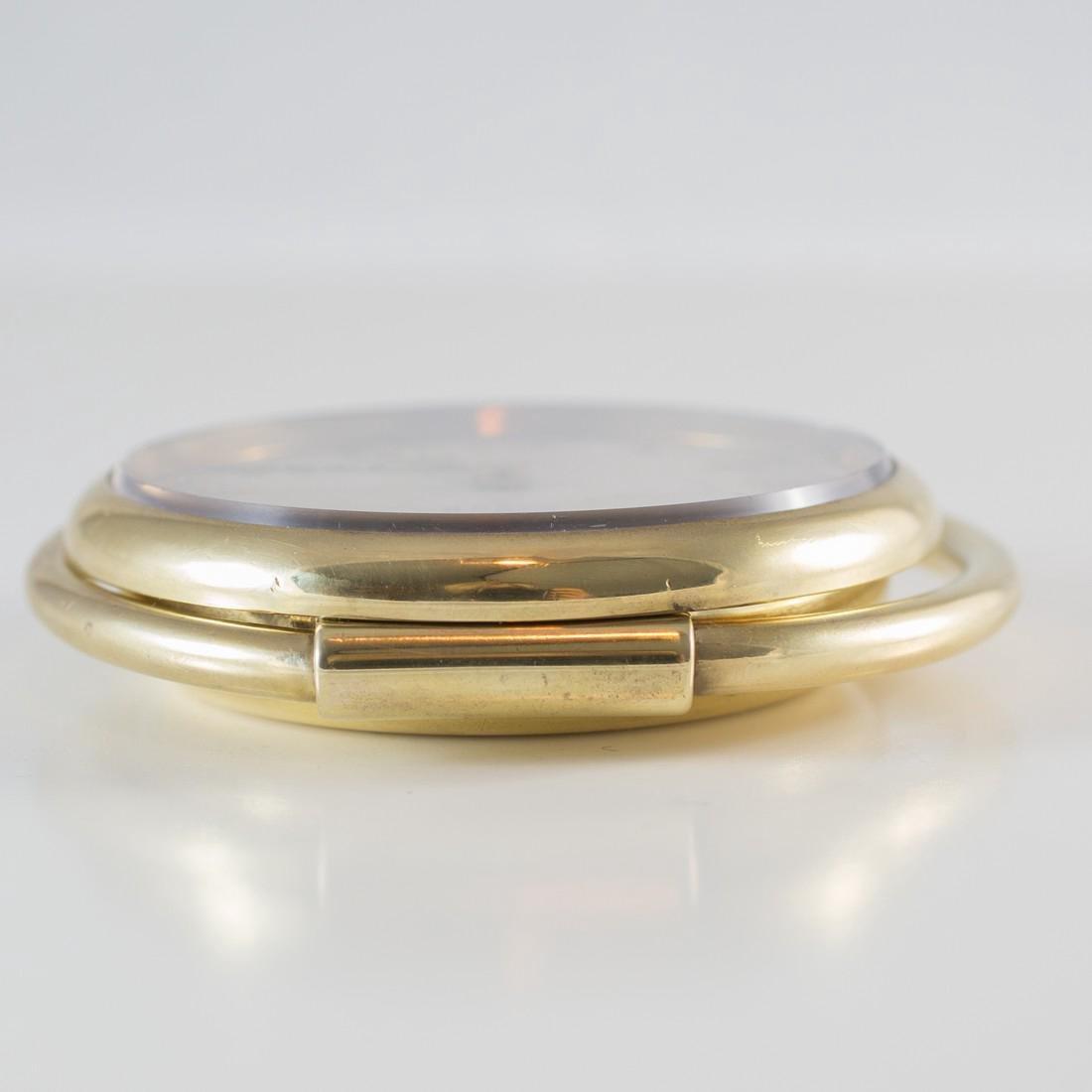 Cartier Swiss 8 Day 10K Gold Filled Travel Desk Clock - 7
