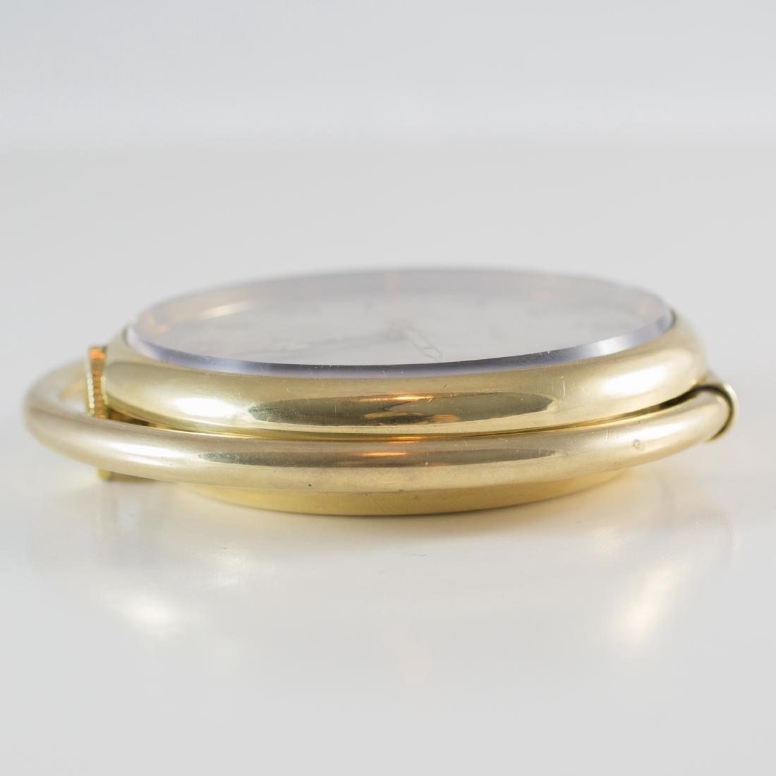 Cartier Swiss 8 Day 10K Gold Filled Travel Desk Clock - 8