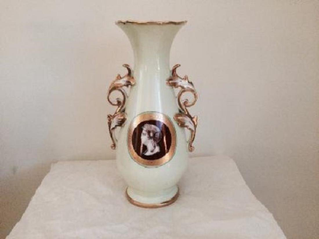 Vintage Decorated Limoges Style Hand Painted Vase