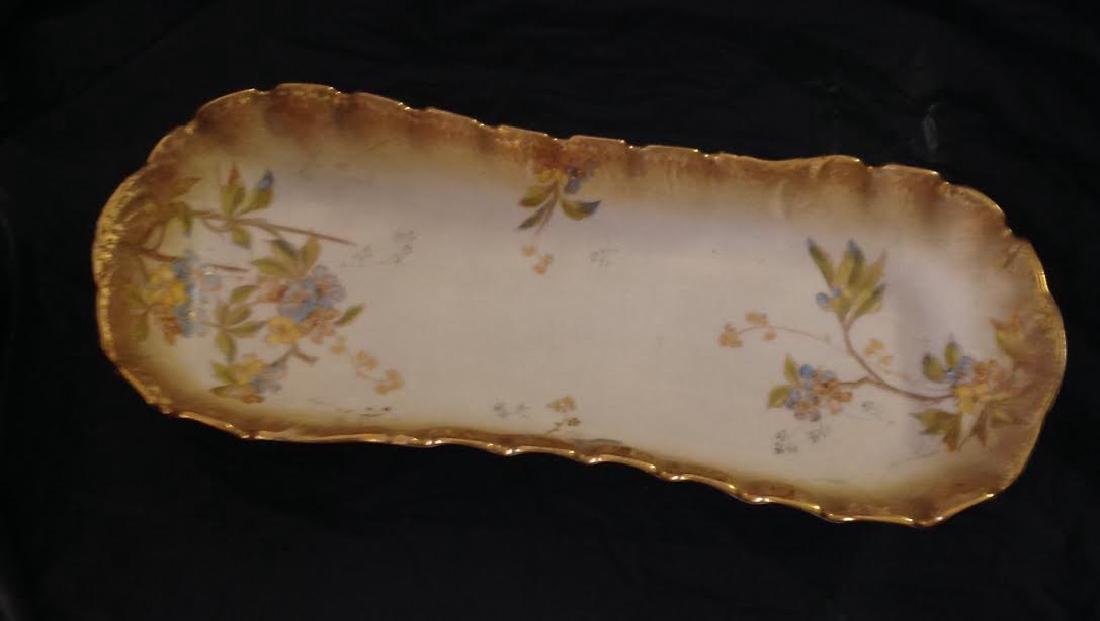 Antique M Redon Limoges France Hand Painted Tray