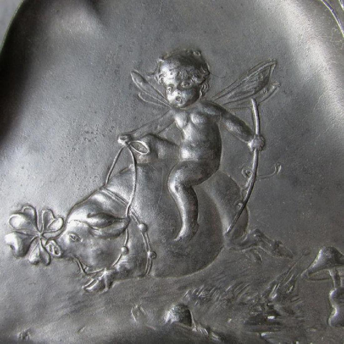 Art Nouveau Tray with Fairy Riding a Pig - 3
