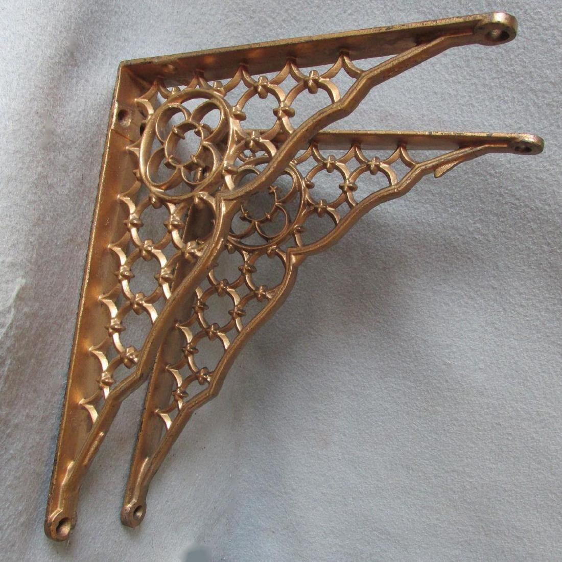 19thC Victorian Gothic Cast Iron Architectural Brackets
