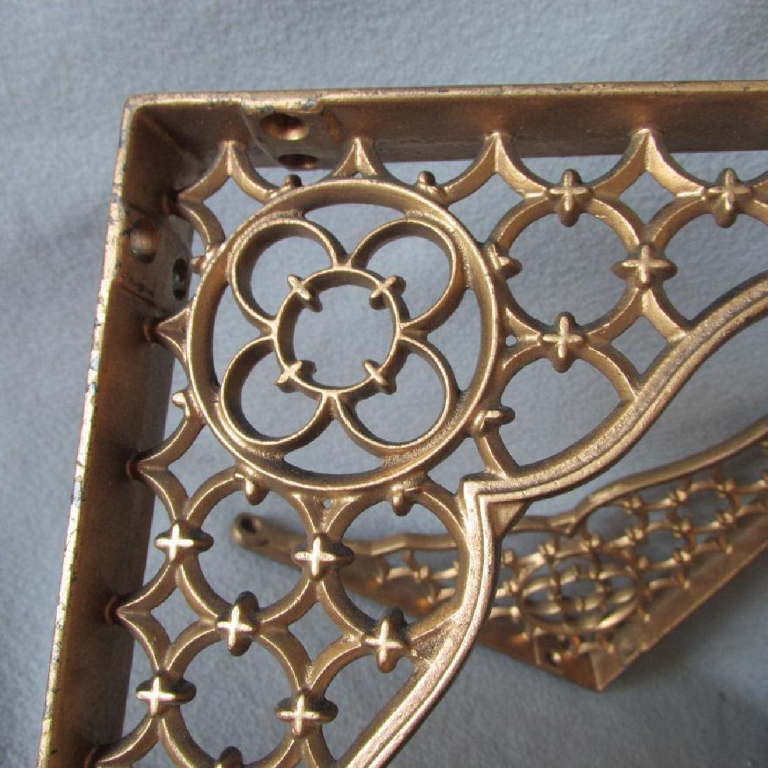 19thC Victorian Gothic Cast Iron Architectural Brackets - 2