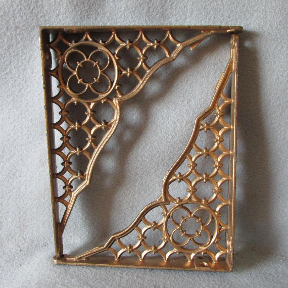 19thC Victorian Gothic Cast Iron Architectural Brackets - 3