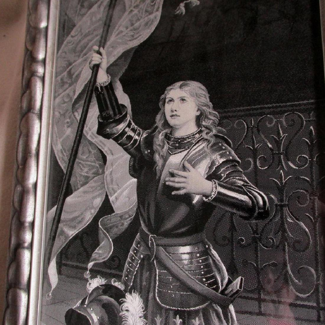 19thC French Silk Tapestry, Joan of Arc - 2