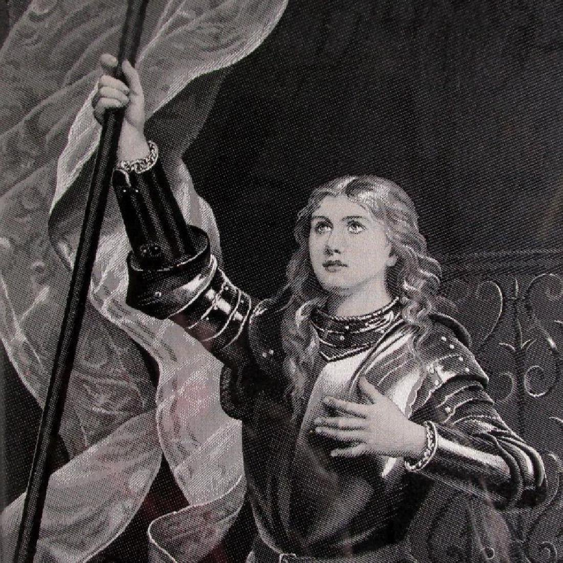 19thC French Silk Tapestry, Joan of Arc - 3