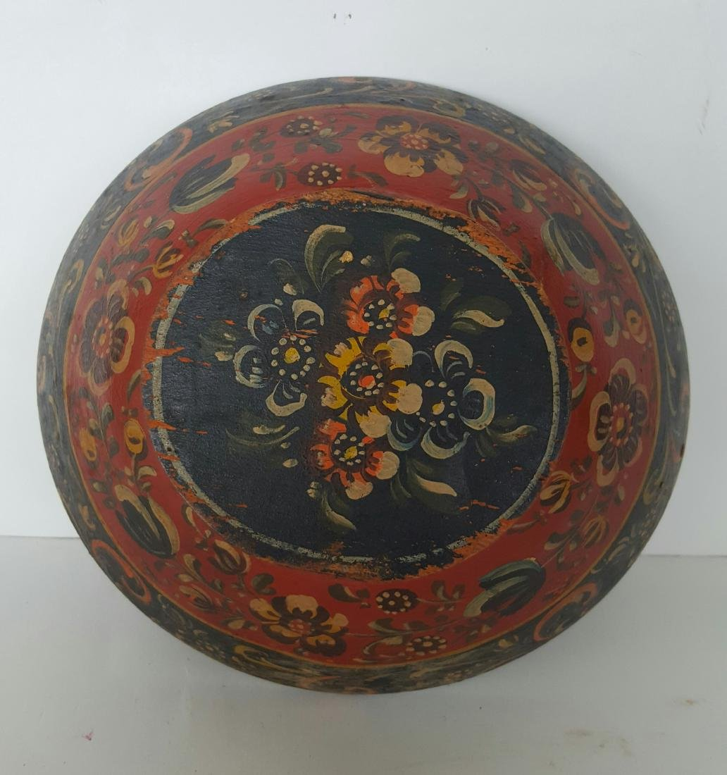 Norwegian Rosemaled Bowl