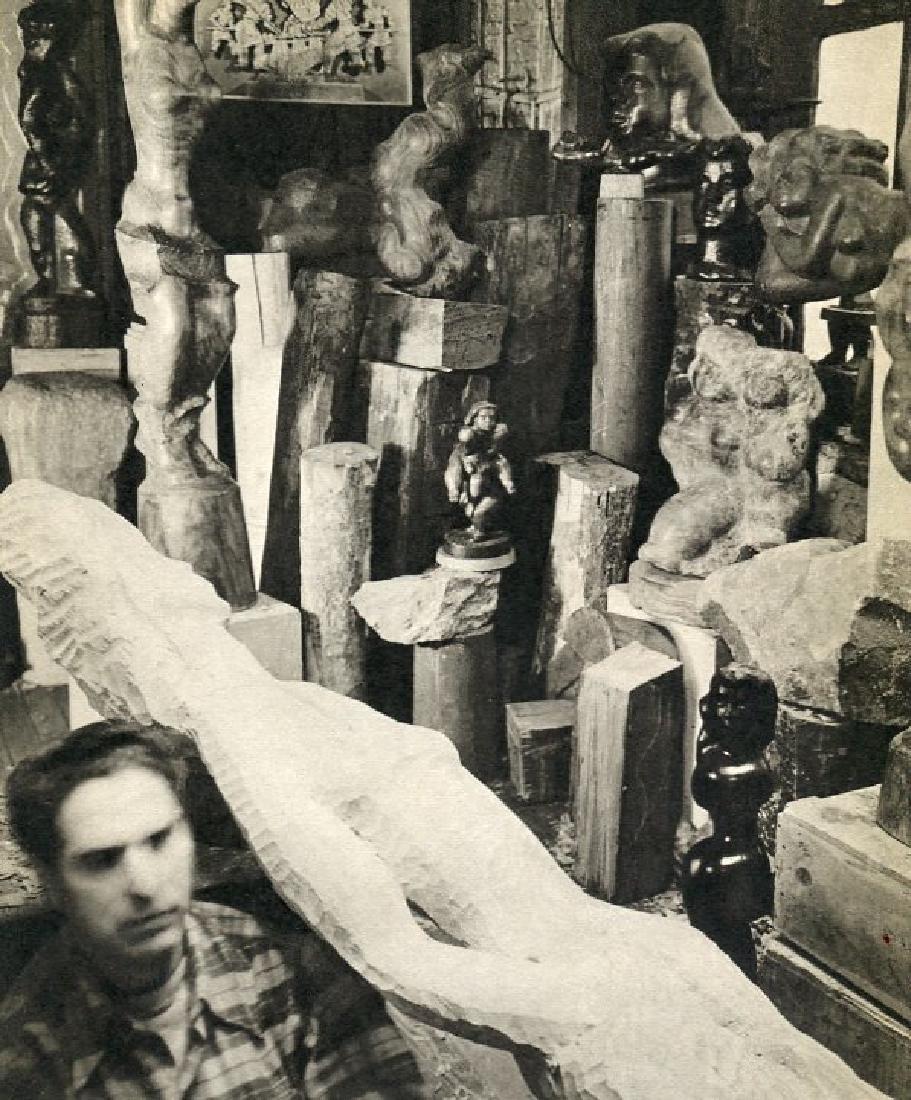 BERENICE ABBOTT - Chaim Gross, Sculptor