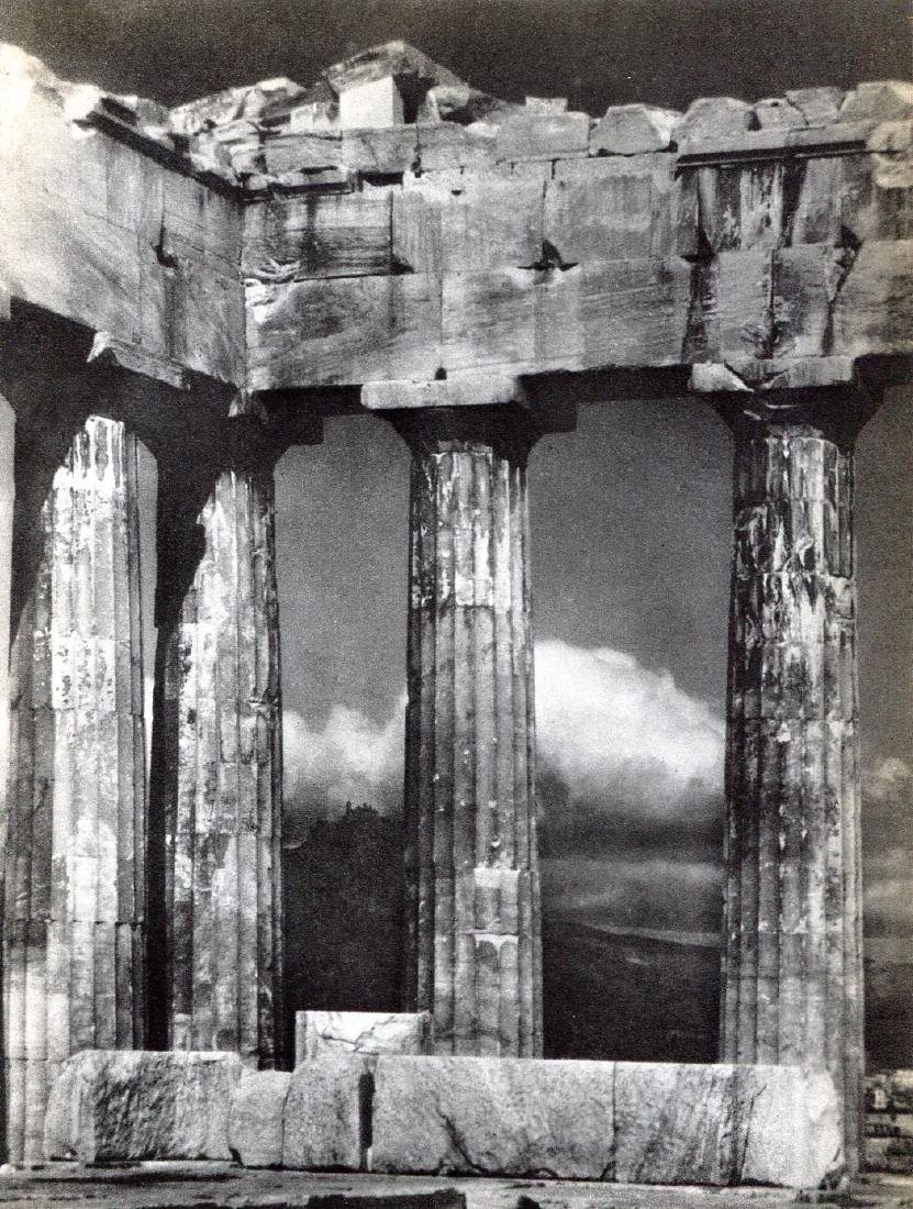 ARNOLD GENTHE - Columns of the Parthenon