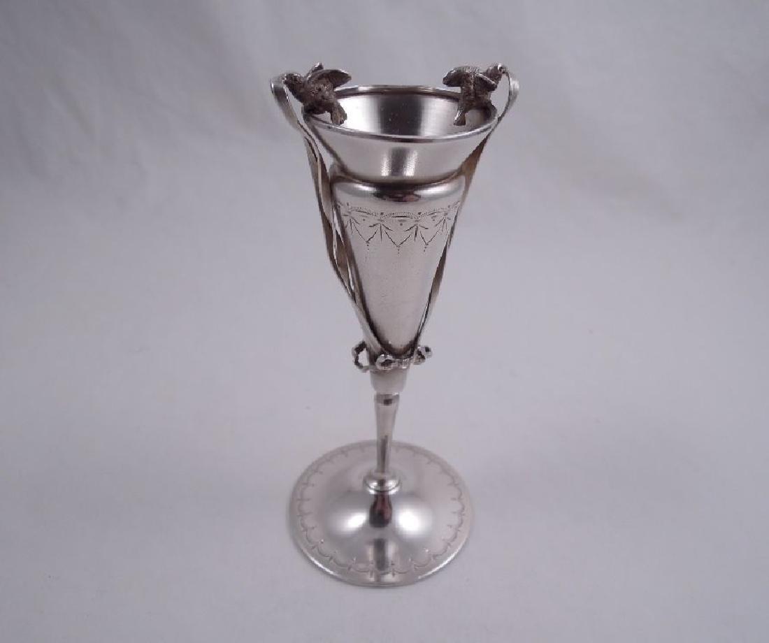 Gorham Sterling Silver Figural Bud Vase, 1872