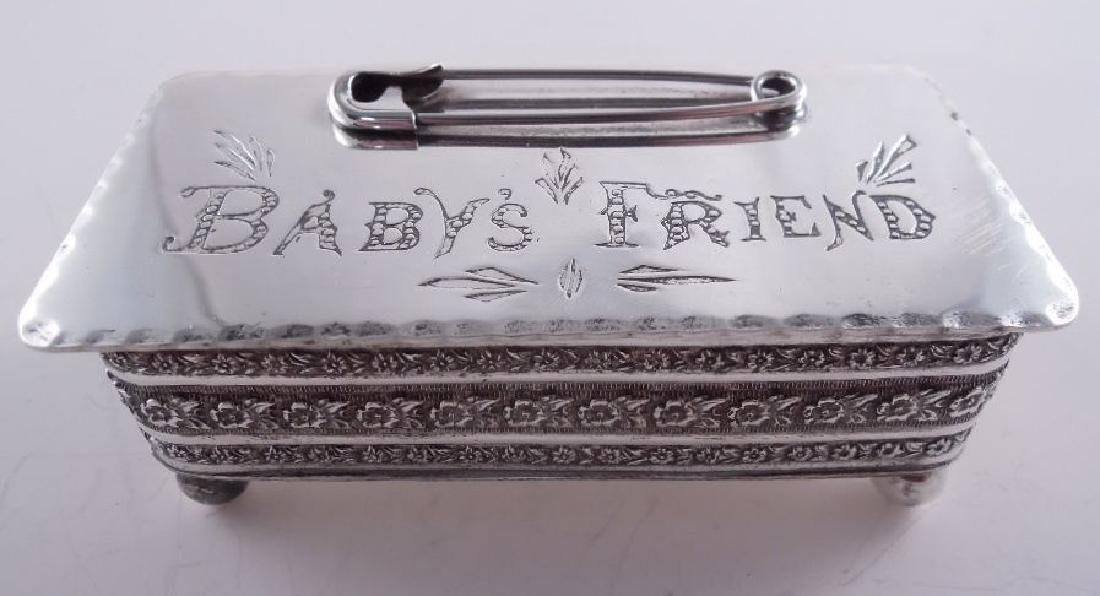 Gould & Lewis Sterling Baby's Friend Safety Pin Box