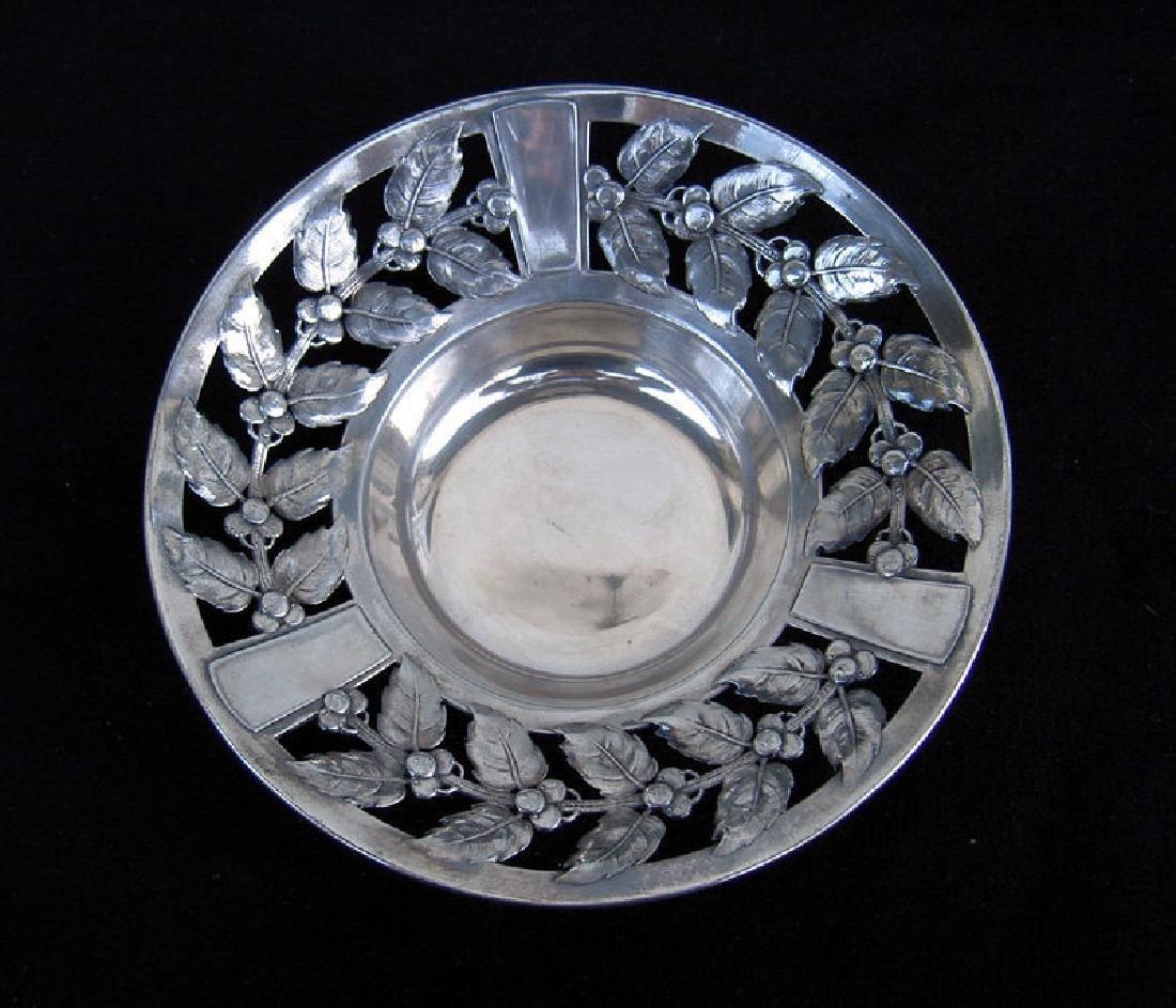 Kayser German Jugendstil Silver Plated Pewter Bowl 1910