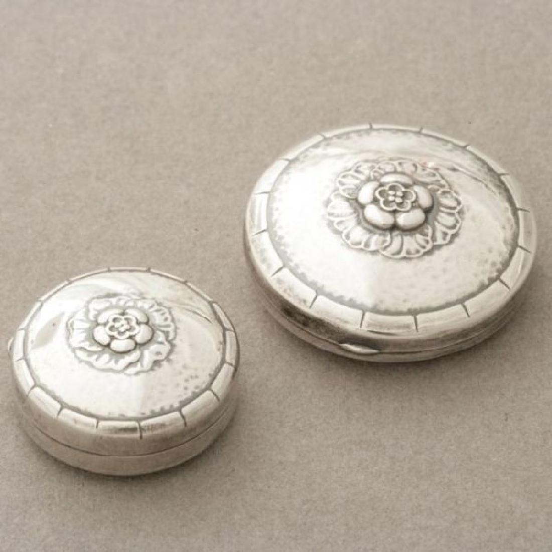 Georg Jensen Sterling Silver Pill Box Compact Set 1930s