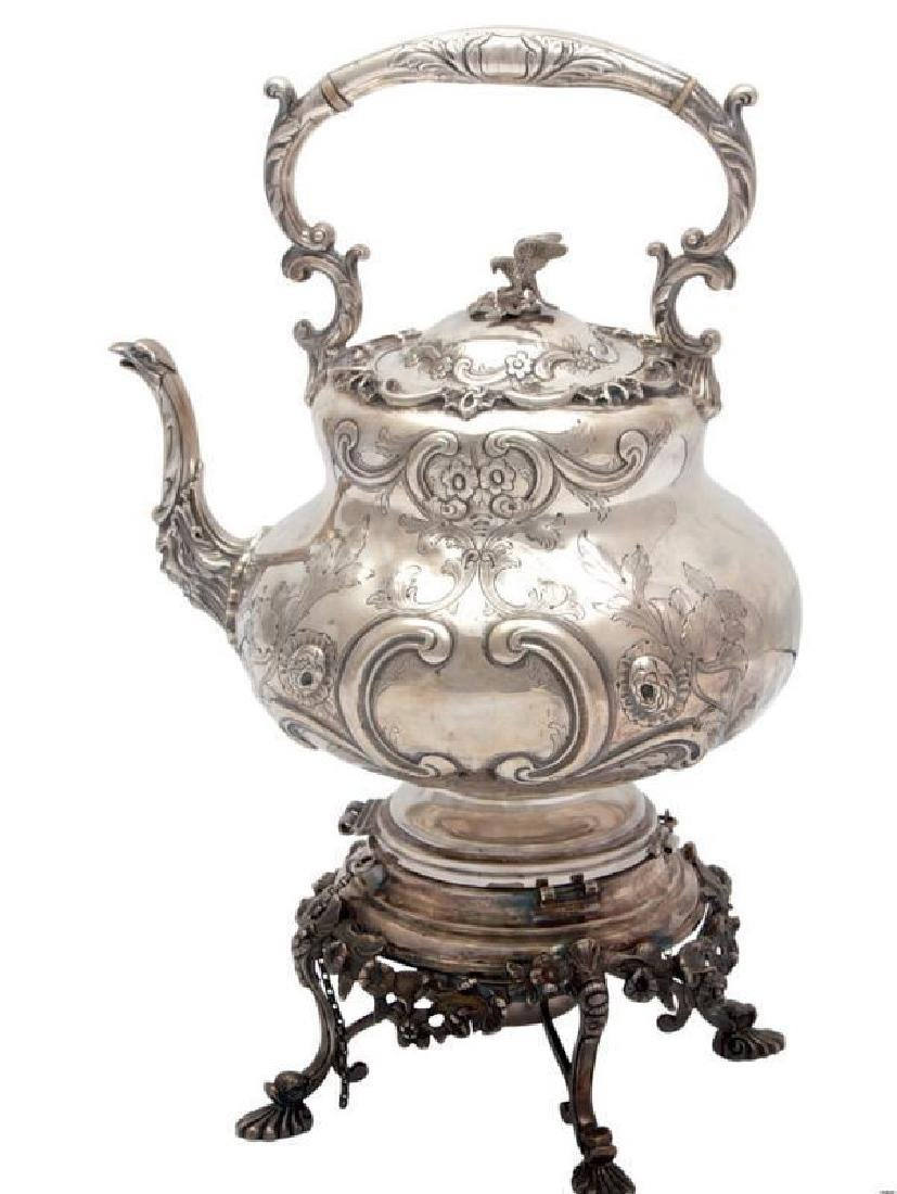 Freeman & Sons Sterling Silver Tilting Kettle On Stand