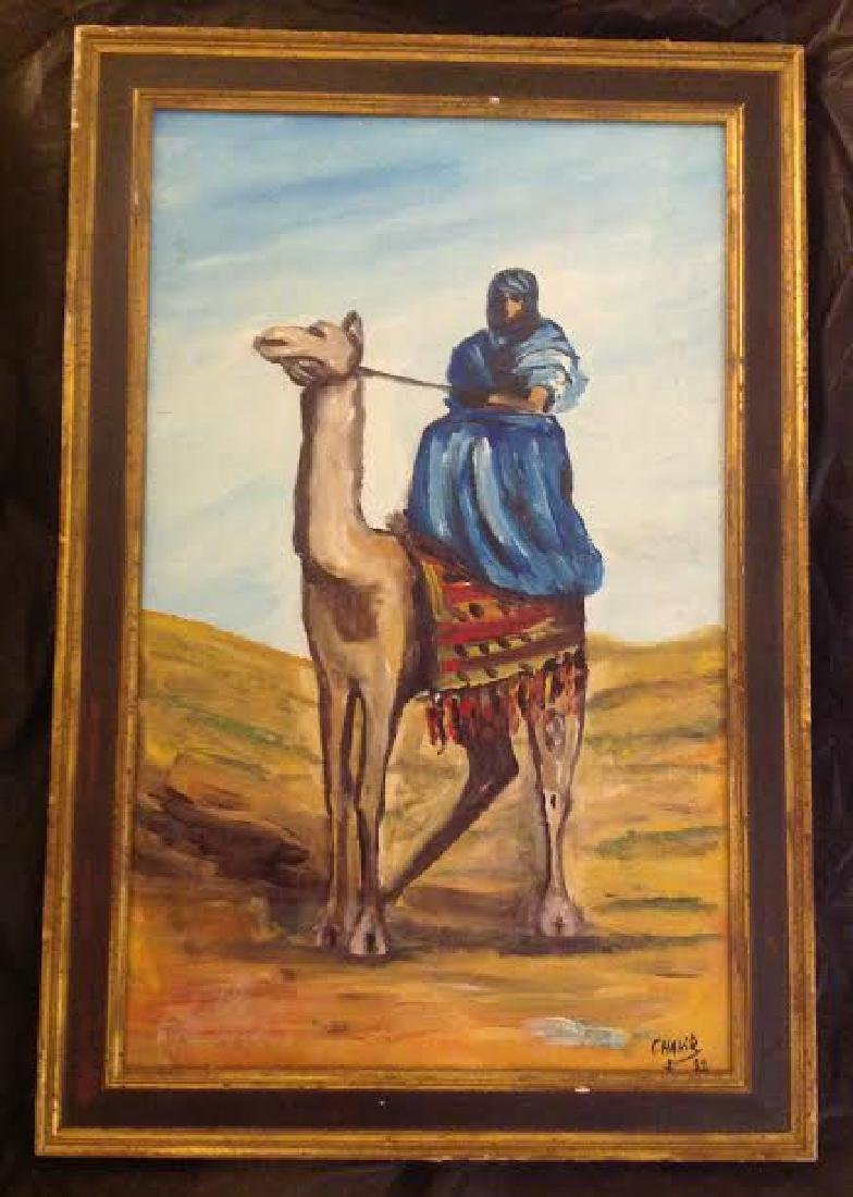 Signed Chakir 1988 Oil Painting