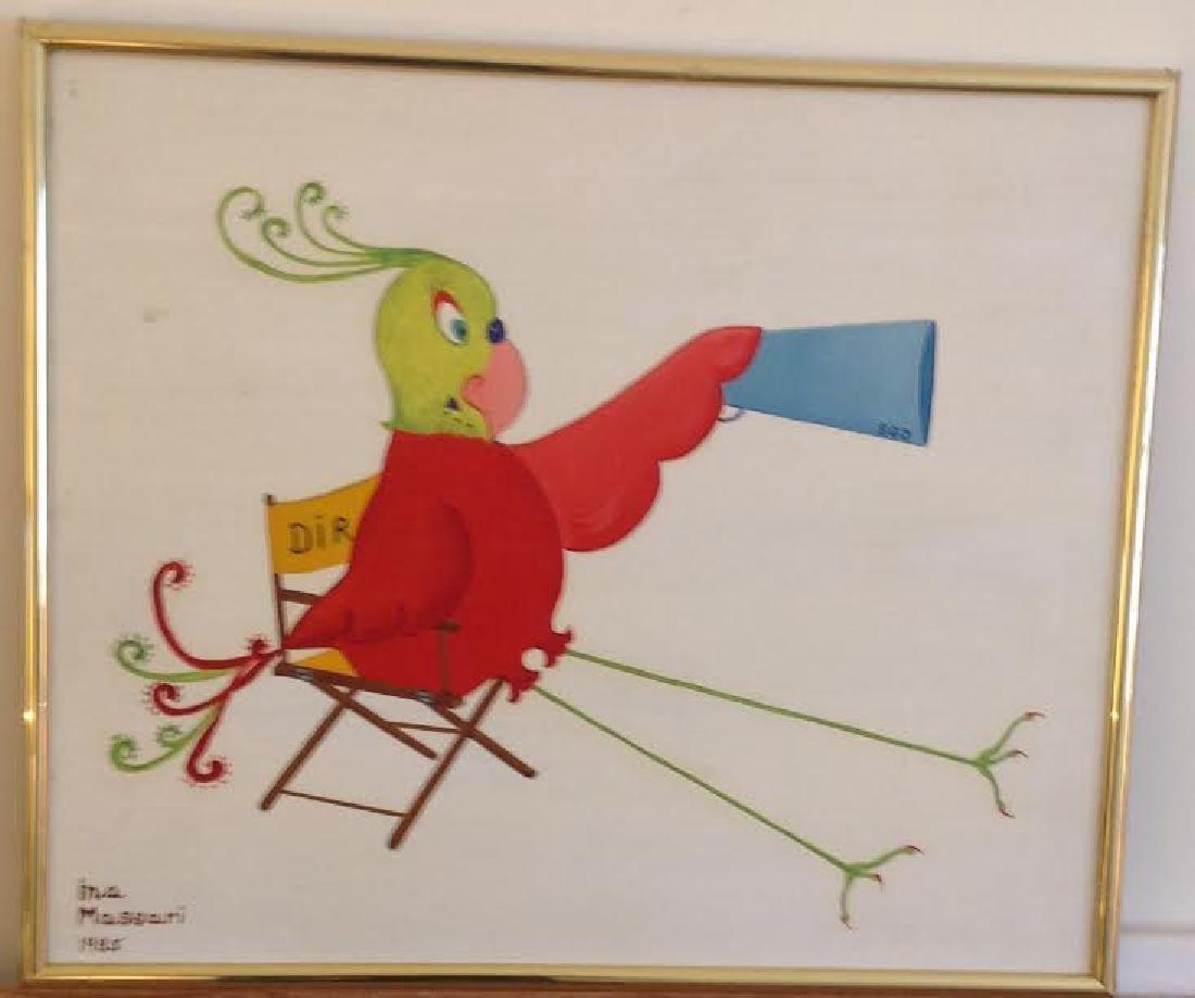 Signed Ina Massari Oil Painting