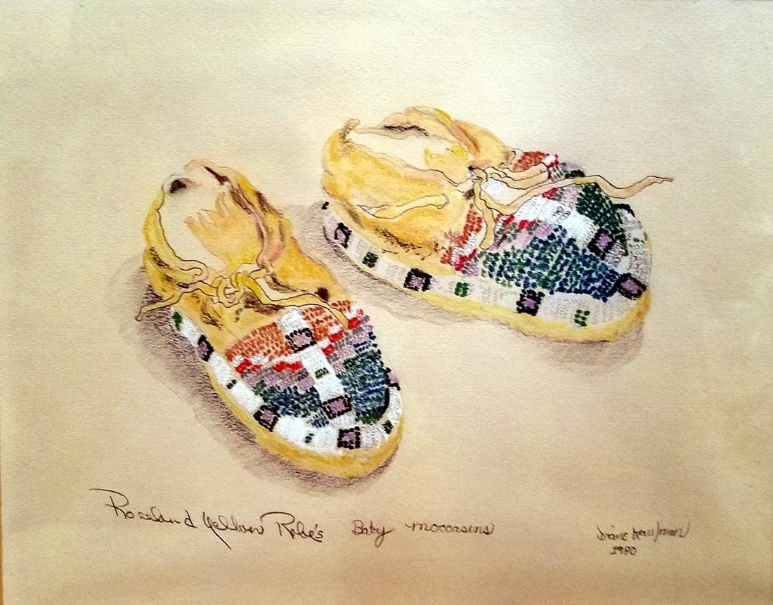 D. Kaufman: Rosebud Yellow Robe Moccasins, 1980