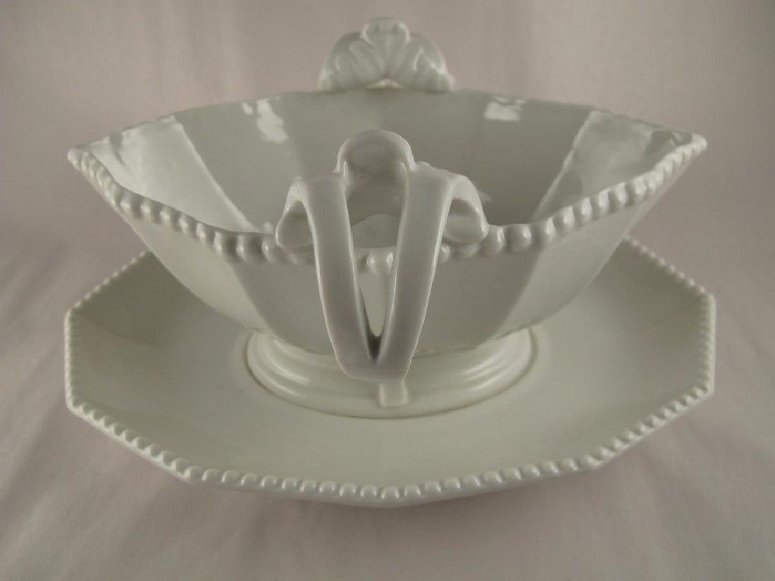 Pearl White, Nymphenburg Blanc De Chine Porcelain Boat