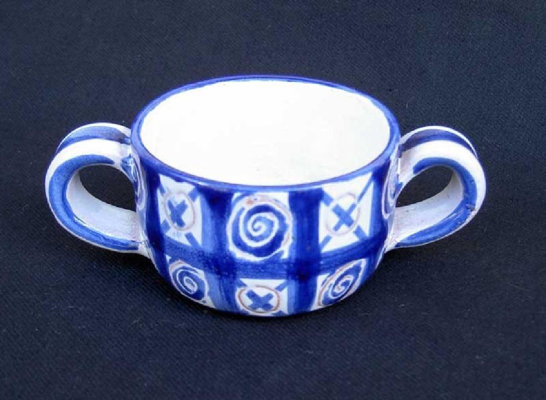 Blue And White Small Pot By Picault, Vallauris