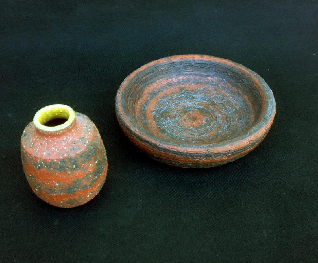 Gunnar Nylund Small Vase And Bowl For Nymolle, Denmark