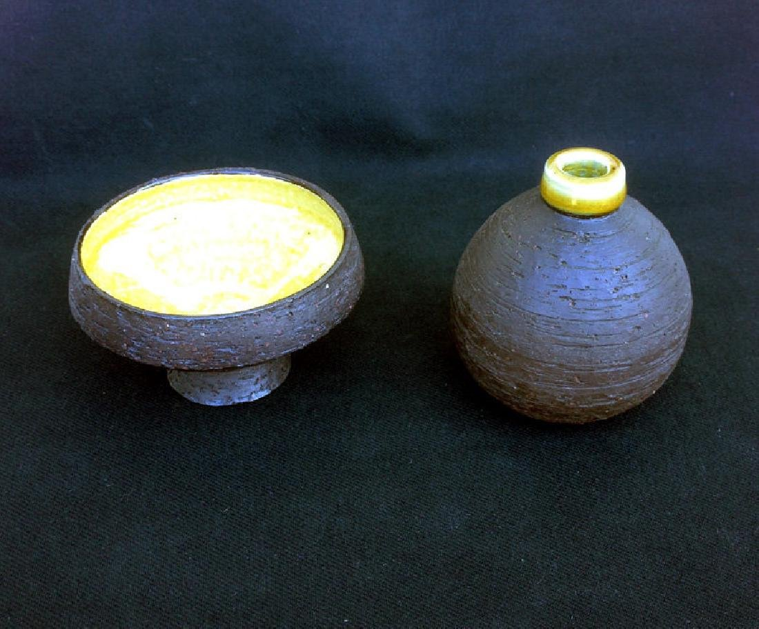 Gunnar Nylund Vase And Footed Bowl For Nymolle, Denmark