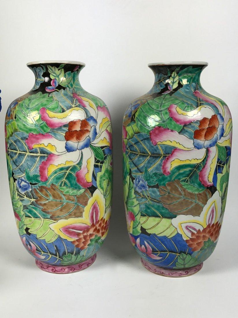 Pair Of Porcelain Vase With Floral Design