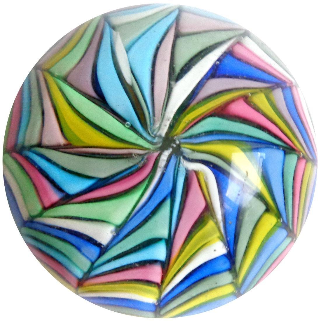 Fratelli Toso Murano Rainbow Swirl Paperweight