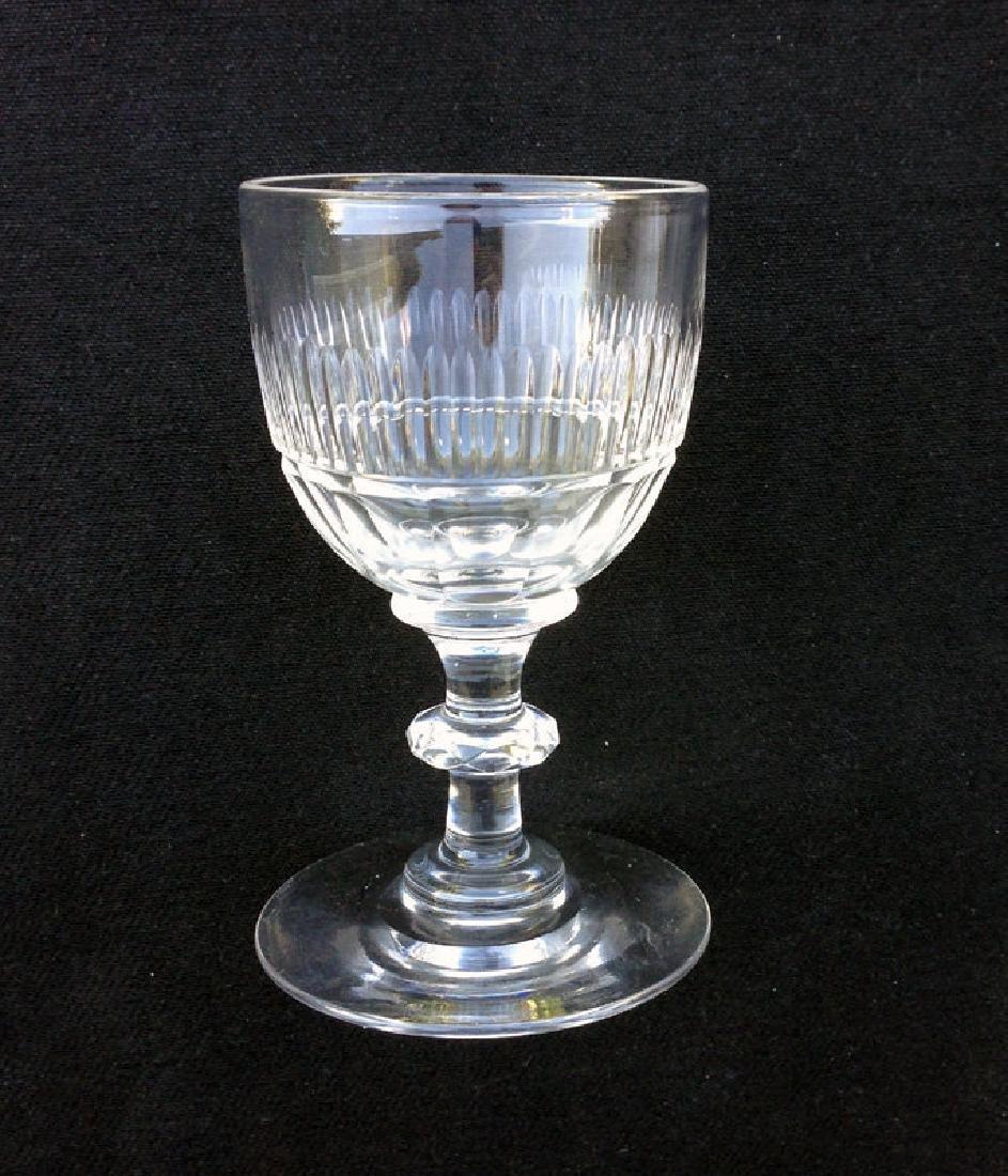 An Anglo Irish Cut Wine Glass, Georgian, C 1820