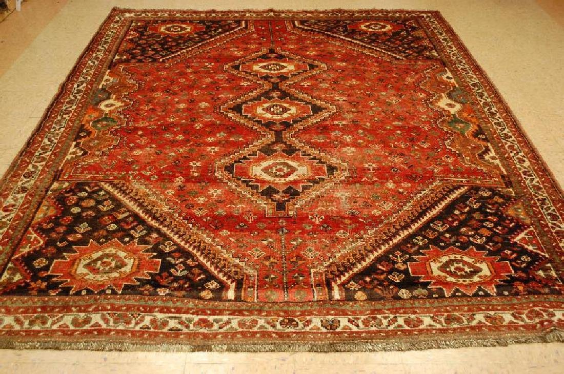 Antique Persian Shiraz Qashkai Khamze Rug 7.5x10.2