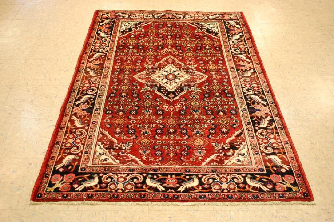 Detailed Village Woven Persian Bijar Rug 4.5x6.5