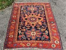 Antique Beautiful Hand Woven Persian Serapi Rug 4x4