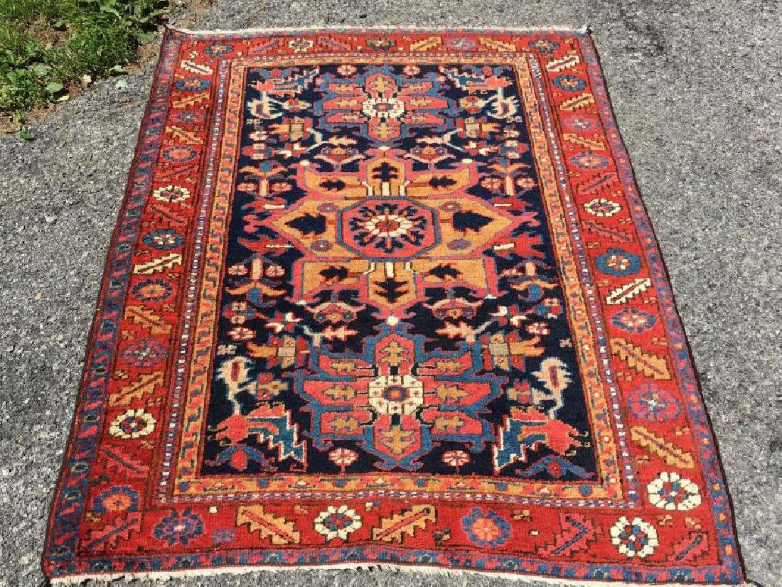 Antique Beautiful Hand Woven Persian Serapi Rug 4x4