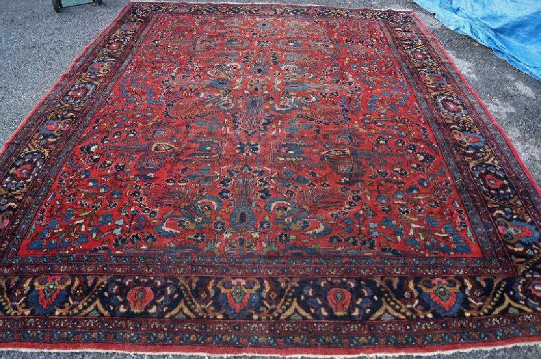 Antique Hand Woven Persian Rug 10x11 C1920
