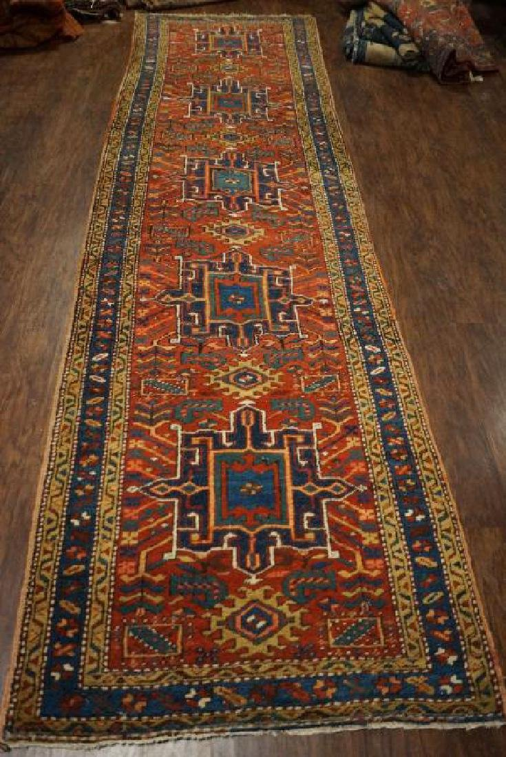 Amazing Antique Serapi Runner 3x11 C1900