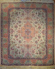Semi Antique Persian Tabriz Rug 6.2 x 8.0