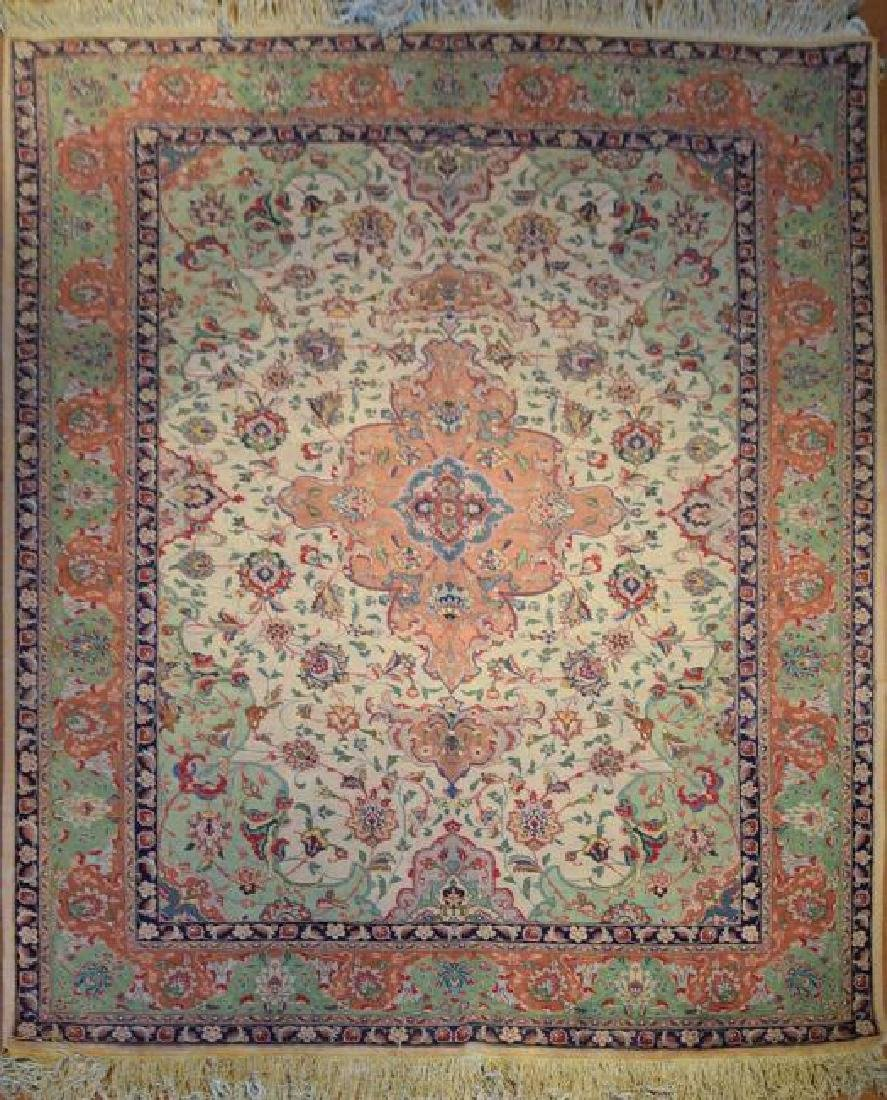 Semi Antique Persian Tabriz Rug 6.2 x 8.0