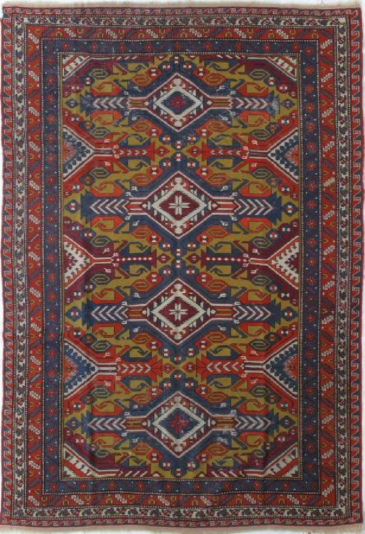 Semi Antique Fine Soumak Rug 6.4 x 9.0