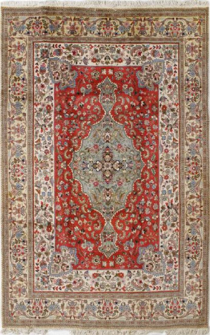 Semi Antique Persian Tabriz Rug 6.7 x 10.4
