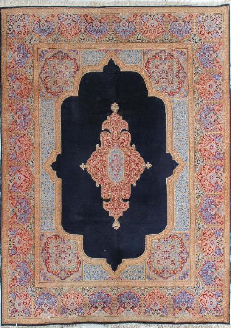Semi Antique Persian Kerman Rug 8.2 x 13.0