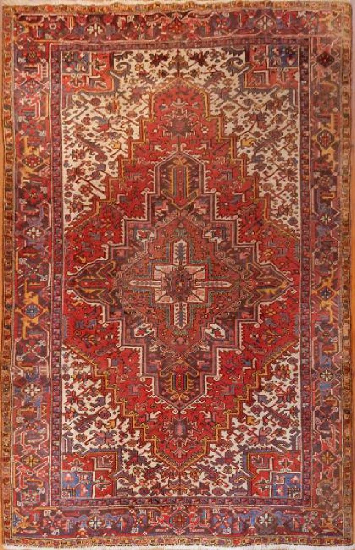 Antique Fine Persian Heriz Rug 8.0 x 11.0
