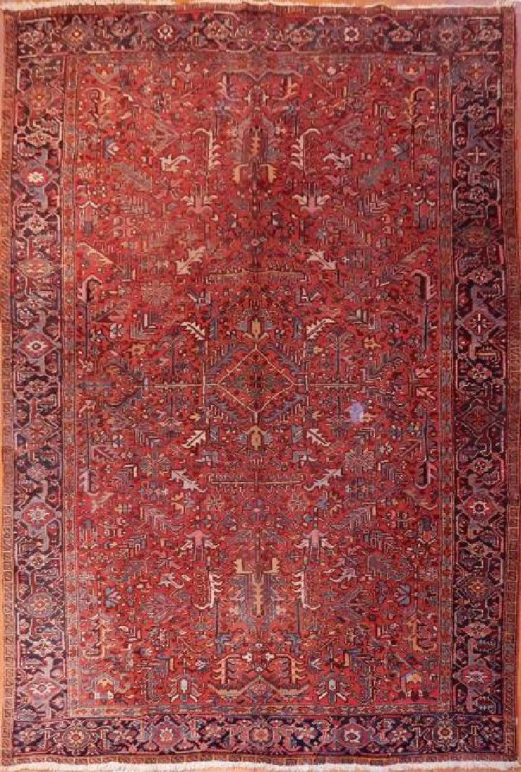 Antique Fine Persian Heriz Rug 8.7 x 11.7