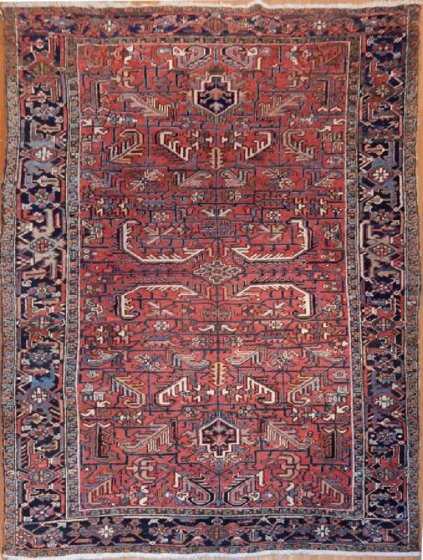Antique Persian Heriz Rug 8.0x11.0