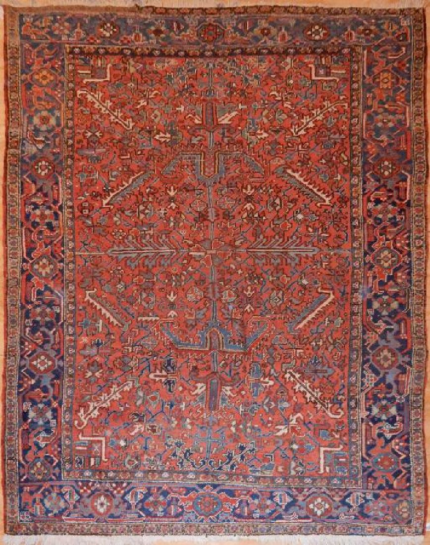 Antique Persian Heriz Rug 7.4x7.9